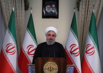 "A handout picture provided by the Iranian presidency on May 8, 2018 shows President Hassan Rouhani giving a speech on Iranian TV in Tehran. Rouhani said Iran could resume uranium enrichment ""without limit"" in response to Donald Trump's decision today to withdraw from the nuclear deal. ""I have instructed the Iranian Atomic Energy Organisation to take the necessary measures for future actions so that if necessary we can resume industrial enrichment without limit,"" he said on state television. - === RESTRICTED TO EDITORIAL USE - MANDATORY CREDIT ""AFP PHOTO / HO / IRANIAN PRESIDENCY"" - NO MARKETING NO ADVERTISING CAMPAIGNS - DISTRIBUTED AS A SERVICE TO CLIENTS === / AFP / IRANIAN PRESIDENCY / STRINGER / === RESTRICTED TO EDITORIAL USE - MANDATORY CREDIT ""AFP PHOTO / HO / IRANIAN PRESIDENCY"" - NO MARKETING NO ADVERTISING CAMPAIGNS - DISTRIBUTED AS A SERVICE TO CLIENTS ==="