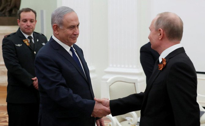 Israeli Prime Minister Benjamin Netanyahu conveyed Israel's obligation to defend itself against Iranian aggression, when he met Russian President Vladimir Putin at the Kremlin in Moscow. (Reuters)