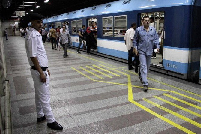 Egypt's transportation authorities have more than tripled the standard subway fare from 2 to up to 7 pounds (40 cents) as part of government austerity measures. (AFP)