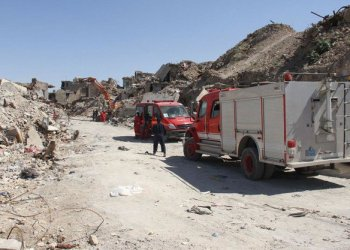 Mosul fire crews and police are still extracting bodies from the ruins of the shattered Old City. (AFP)
