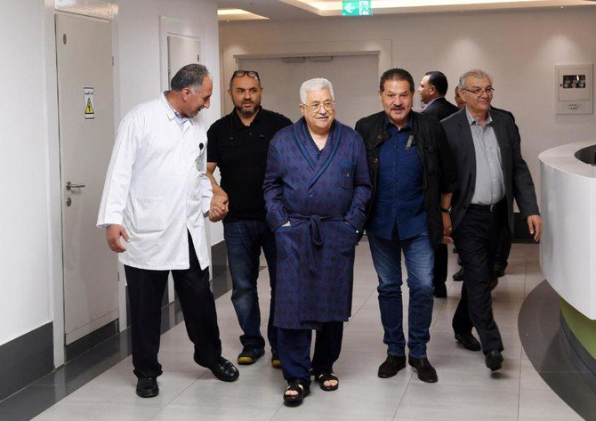 It was not initially clear why Abbas was in hospital, although doctors later revealed he had a lung infection (Reuters)