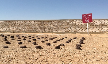 A file photo of mines planted by the Europeans during the Second World War and extracted by the Egyptian Army from Al-Alamein, Egypt, during the past years, October, 25, 2014. (Photo: Waad Ahmed)