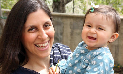 Nazanin Zaghari-Ratcliffe, a British-Iranian charity worker with her daughter, in 2016 before she was jailed. (social media)