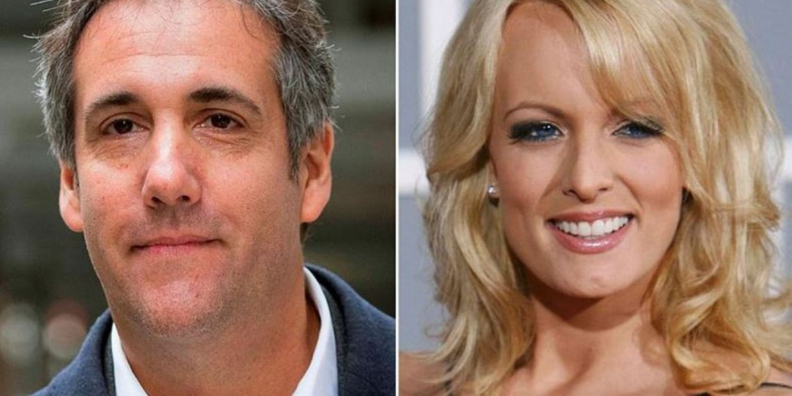 This combination photo shows President Donald Trump's personal attorney, Michael Cohen, and porn star Stormy Daniels.AP Photo