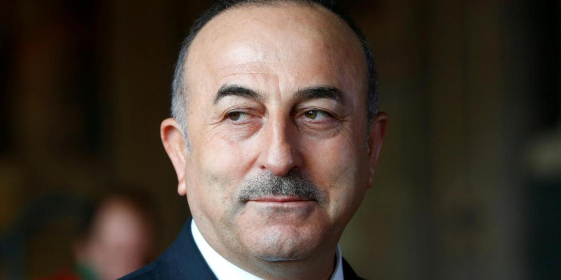 FILE PHOTO: Turkish Minister of Foreign Affairs Mevlut Cavusoglu attends a news conference in Goslar, Germany, January 6, 2018. REUTERS/Ralph Orlowski