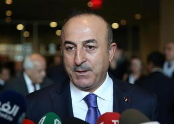 Cavusoglu in a press conference , May 2018