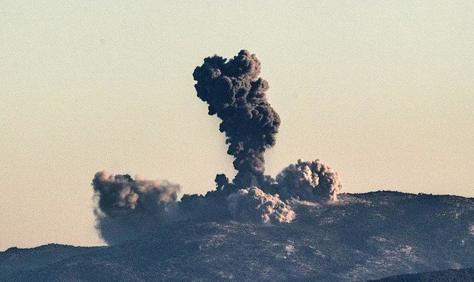 Turkish jet fighters hit the People's Protection Units (YPG) positions. (AFP)