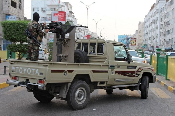 The official said military, security, and intelligence forces raided terrorist cells and confiscated several weapons. (Saleh Al-Obeidi/AFP)