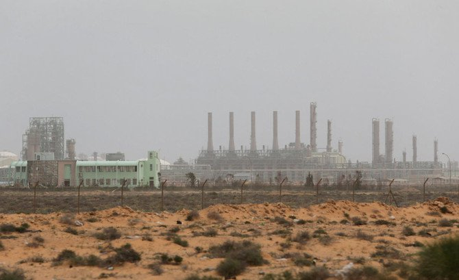 File photo showing a view of Ras Lanuf Oil and Gas Company in Ras Lanuf, Libya, March 16, 2017./ (Reuters)