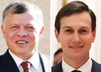 King Abdullah of Jordan (L) and Jared Kushner. /(AFP)