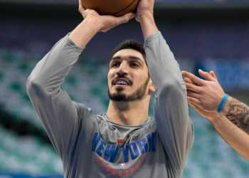 New York Knicks center Enes Kanter - Jerome Miron, USA TODAY Sports