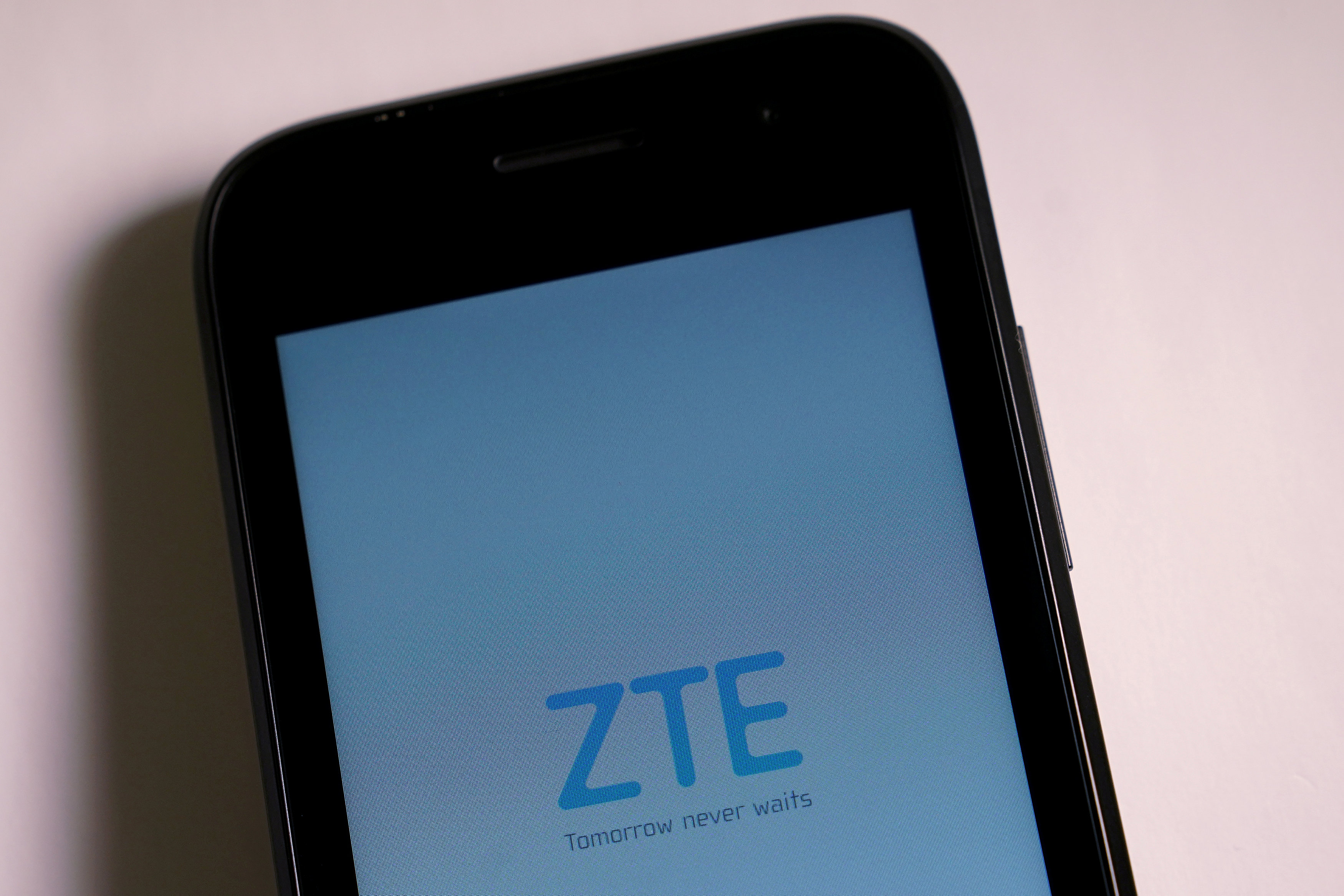 file photo a zte smart phone is pictured in this illustration