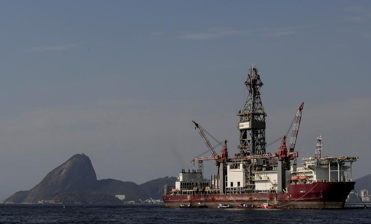 FILE PHOTO: The Odebrecht Oil and Gas drillship is seen in the Guanabara bay in Rio de Janeiro, Brazil October 20, 2017. REUTERS/Bruno Kelly