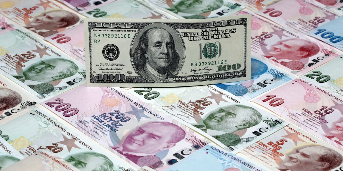 FILE PHOTO: A picture illustration shows a 100 Dollar banknote lying on various denomination Turkish lira banknotes, taken in Istanbul, Turkey January 7, 2014.  REUTERS/Murad Sezer/Illustration/File Photo -/File Photo