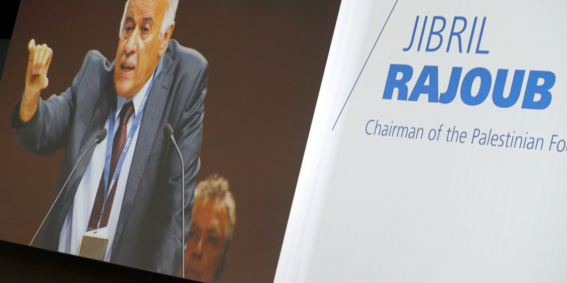 FILE PHOTO: Palestinian Football Association (PFA) President Jibril Rajoub speaks at the 67th FIFA Congress in Manama, Bahrain May 11, 2017. REUTERS/Hamad I Mohammed
