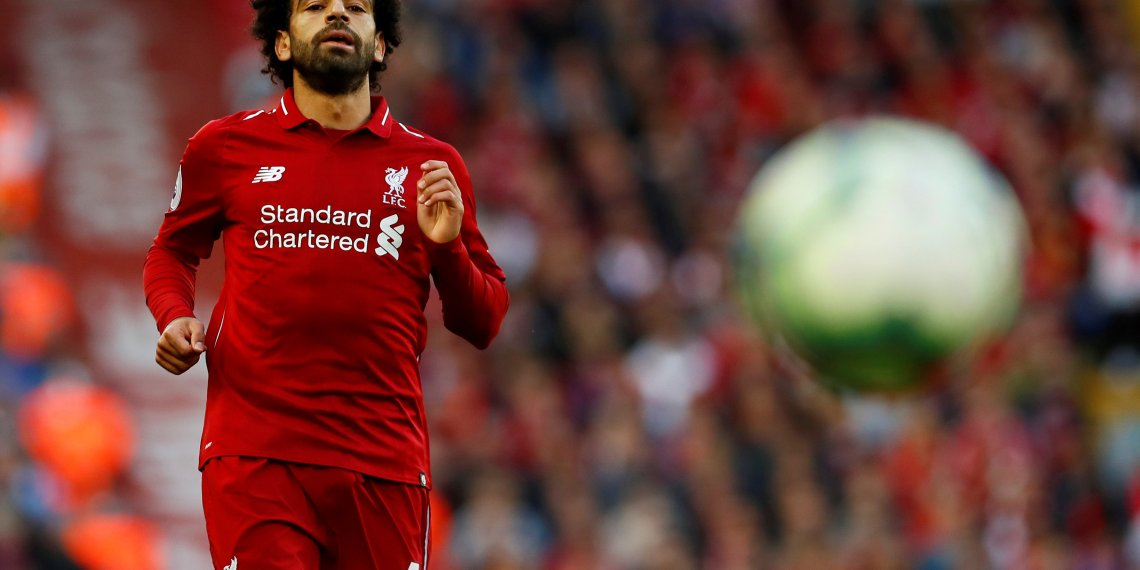 FILE PHOTO: Soccer Football - Premier League - Liverpool v Brighton & Hove Albion - Anfield, Liverpool, Britain - August 25, 2018 Liverpool's Mohamed Salah in action Action Images via Reuters/Jason Cairnduff