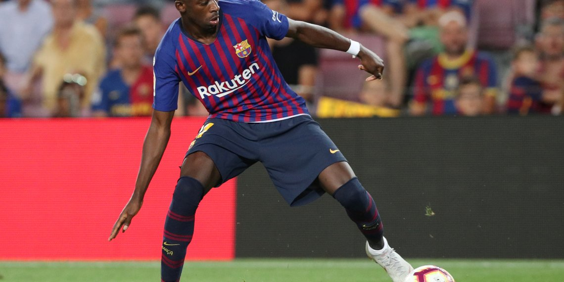 FILE PHOTO: Soccer Football - La Liga Santander - FC Barcelona v Alaves - Camp Nou, Barcelona, Spain - August 18, 2018 Barcelona's Ousmane Dembele in action REUTERS/Albert Gea