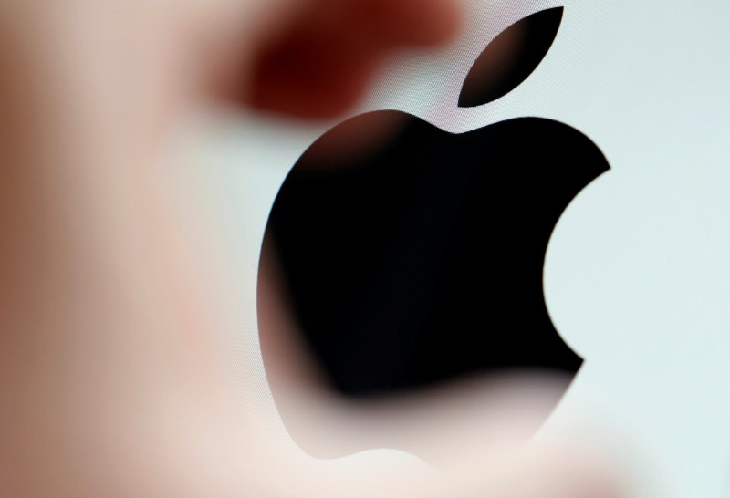 The Apple logo is seen on a computer screen in this illustration photo taken in Bordeaux, France, February 1, 2017. REUTERS/Regis Duvignau/File Photo