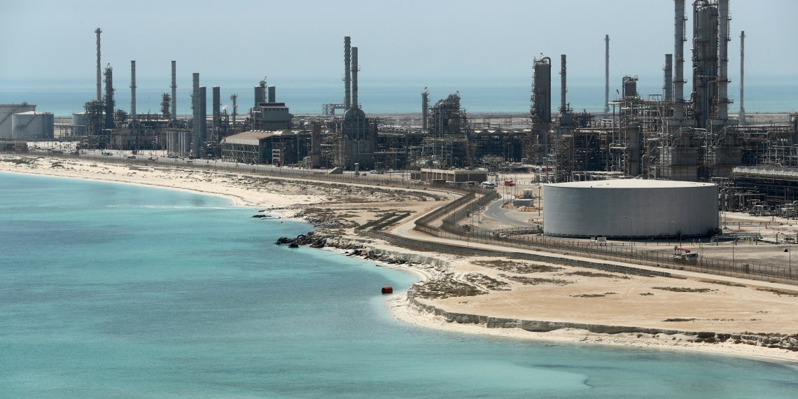 FILE PHOTO: General view of Saudi Aramco's Ras Tanura oil refinery and oil terminal in Saudi Arabia May 21, 2018. REUTERS/Ahmed Jadallah/File Photo