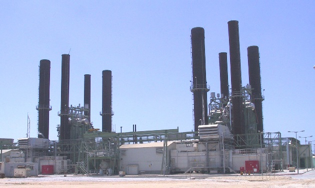 the only power plant supplying electricity to the Gaza Strip