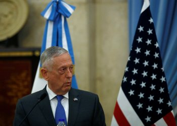 U.S. Secretary of Defence James Mattis attends a news conference at Libertador Building in Buenos Aires, Argentina August 15, 2018. REUTERS/Martin Acosta