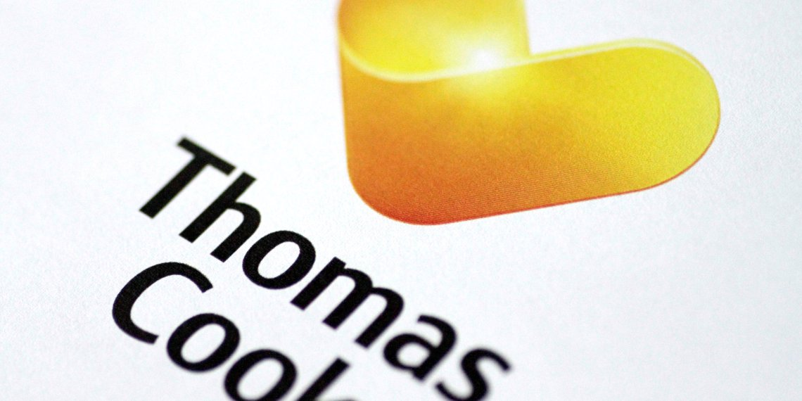 FILE PHOTO: The Thomas Cook logo is seen in this illustration photo January 22, 2018. REUTERS/Thomas White/Illustration/File Photo