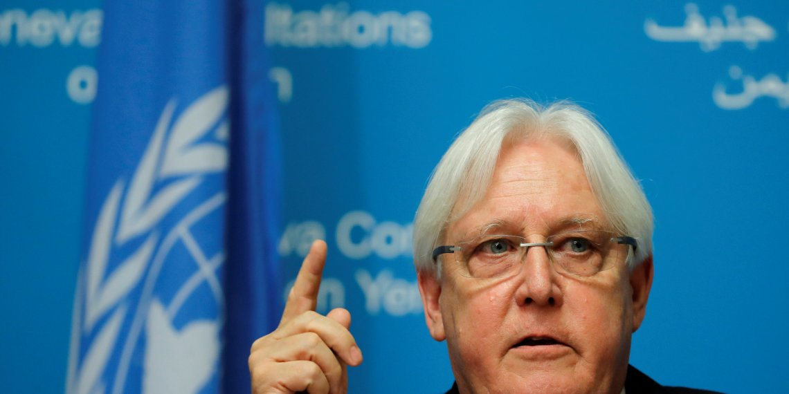 UN envoy Martin Griffiths attends a news conference ahead of Yemen talks at the United Nations in Geneva, Switzerland September 5, 2018. REUTERS/Denis Balibouse