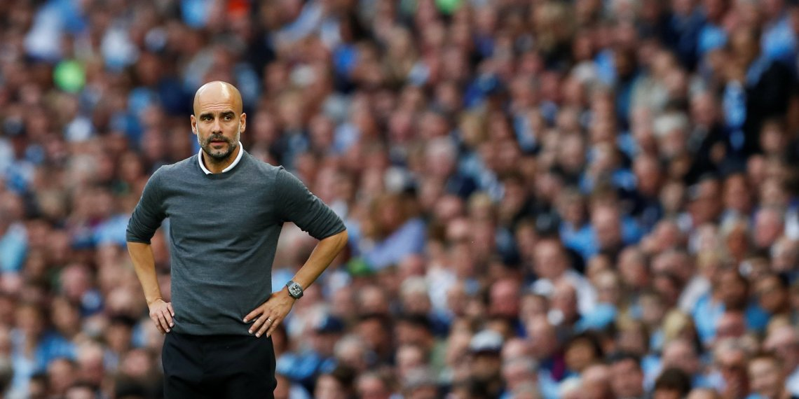 Manchester City manager Pep Guardiola looks on. Premier League - Manchester City v Newcastle United - Etihad Stadium, Manchester, Britain - September 1, 2018. Action Images via Reuters/Jason Cairnduff