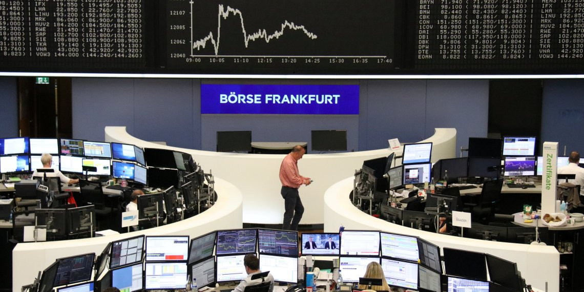 The German share price index DAX graph is pictured at the stock exchange in Frankfurt, Germany, September 17, 2018.    REUTERS/Staff