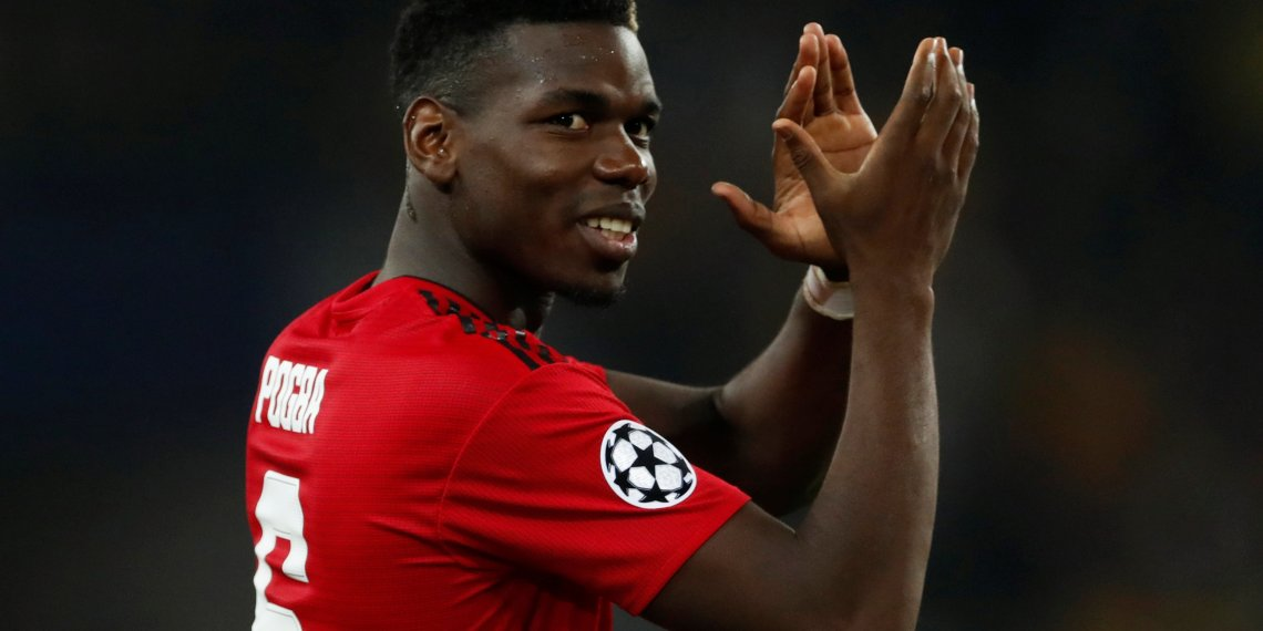 Soccer Football - Champions League - Group Stage - Group H - BSC Young Boys v Manchester United - Stade de Suisse, Bern, Switzerland - September 19, 2018  Manchester United's Paul Pogba applauds their fans after the match   Action Images via Reuters/Matthew Childs