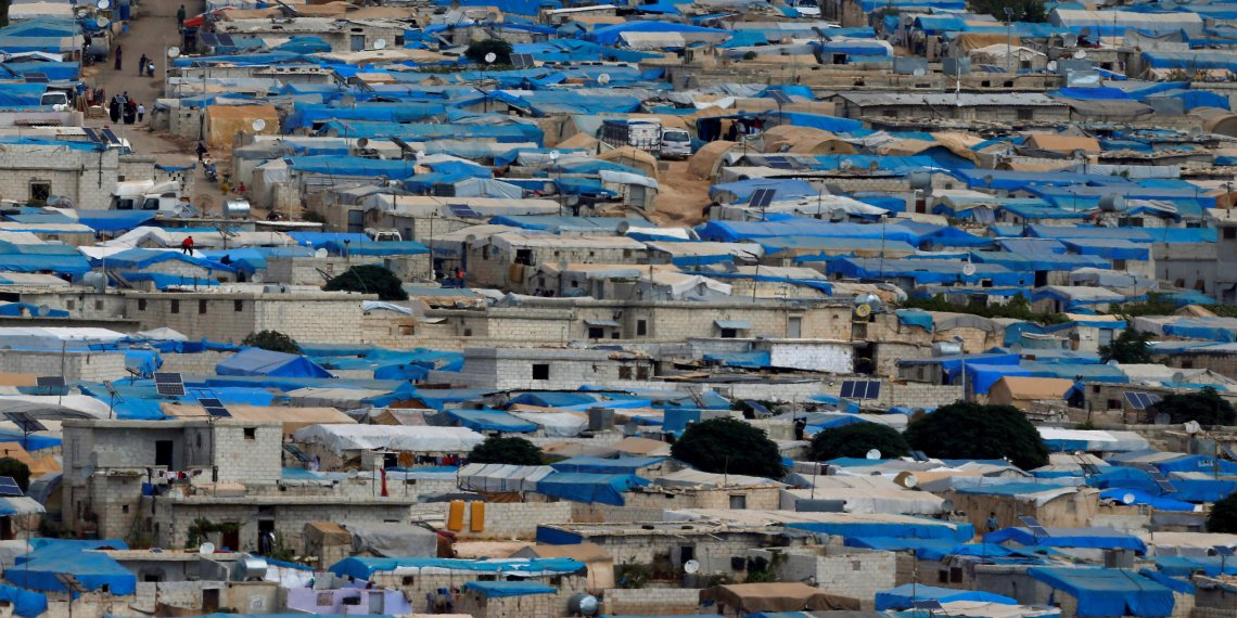 A general view of the Syrian town of Atimah, Idlib province, seen in this picture taken from Reyhanli, Hatay province, Turkey October 10, 2017. REUTERS/Osman Orsal/Files