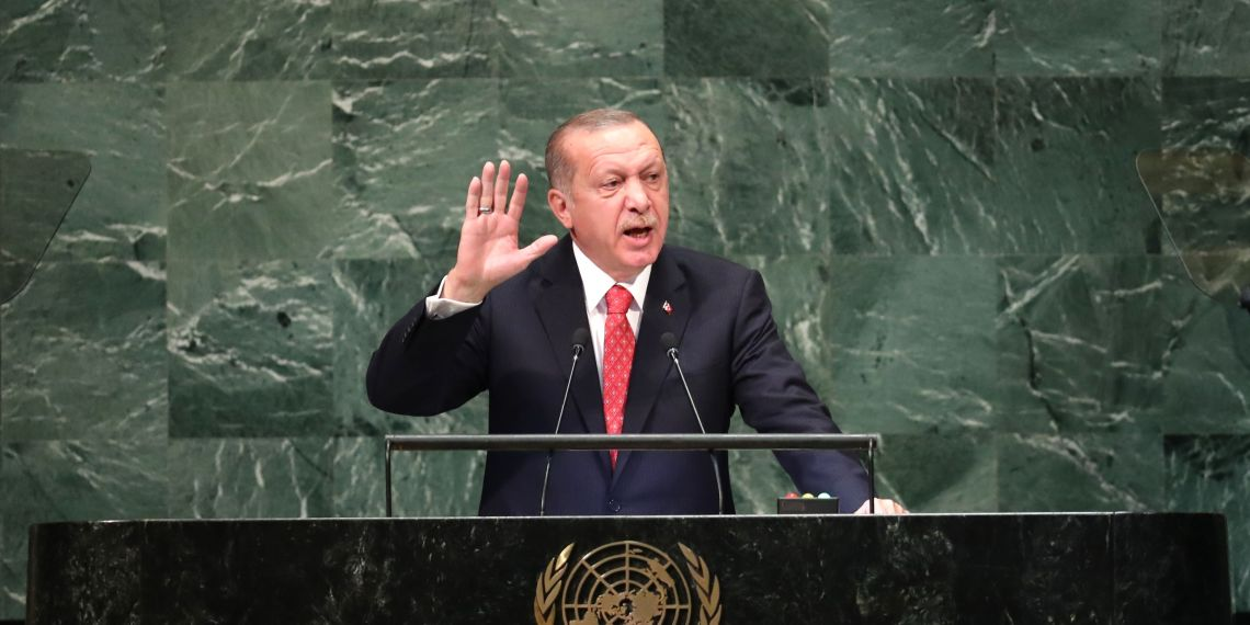 Turkey's President Recep Tayyip Erdogan addresses the 73rd session of the United Nations General Assembly at U.N. headquarters in New York, U.S., September 25, 2018. REUTERS/Carlo Allegri