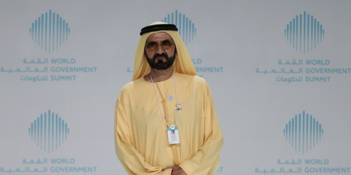 FILE PHOTO: Sheikh Mohammed bin Rashid al-Maktoum, Prime Minister and Vice-President of the United Arab Emirates, and ruler of Dubai, attends the World Government Summit in Dubai, United Arab Emirates February 11, 2018. REUTERS/Christopher Pike???