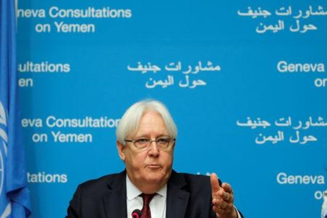 UN envoy Martin Griffiths attends a news conference on Yemen talks at the United Nations in Geneva, Switzerland September 8, 2018. REUTERS/Denis Balibouse
