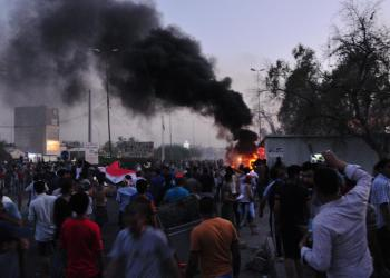 People gather during a protest near the main provincial government building because of the water pollution and poor services in Basra, Iraq August 31, 2018. REUTERS/Essam al-Sudani