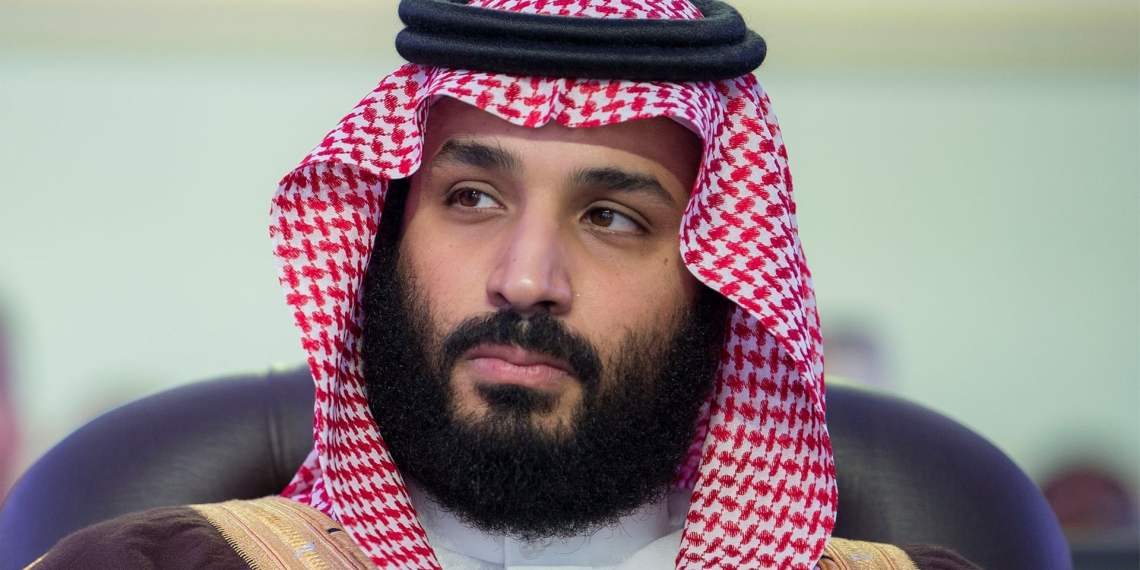 Prince Mohammad bin Salman's two-day stay in Britain includes a visit to Windsor castle. Photograph: Anadolu Agency/Getty Images