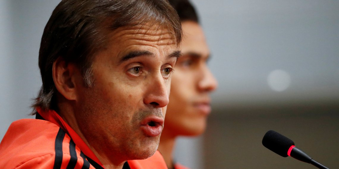 Soccer Football - Champions League - Real Madrid Press Conference - Moscow, Russia - October 1, 2018 Real Madrid coach Julen Lopetegui during the press conference REUTERS/Sergei Karpukhin