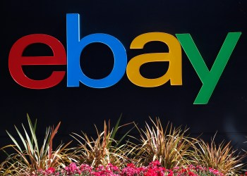 FILE PHOTO: An eBay sign is seen at an office building in San Jose, California May 28, 2014. REUTERS/Beck Diefenbach