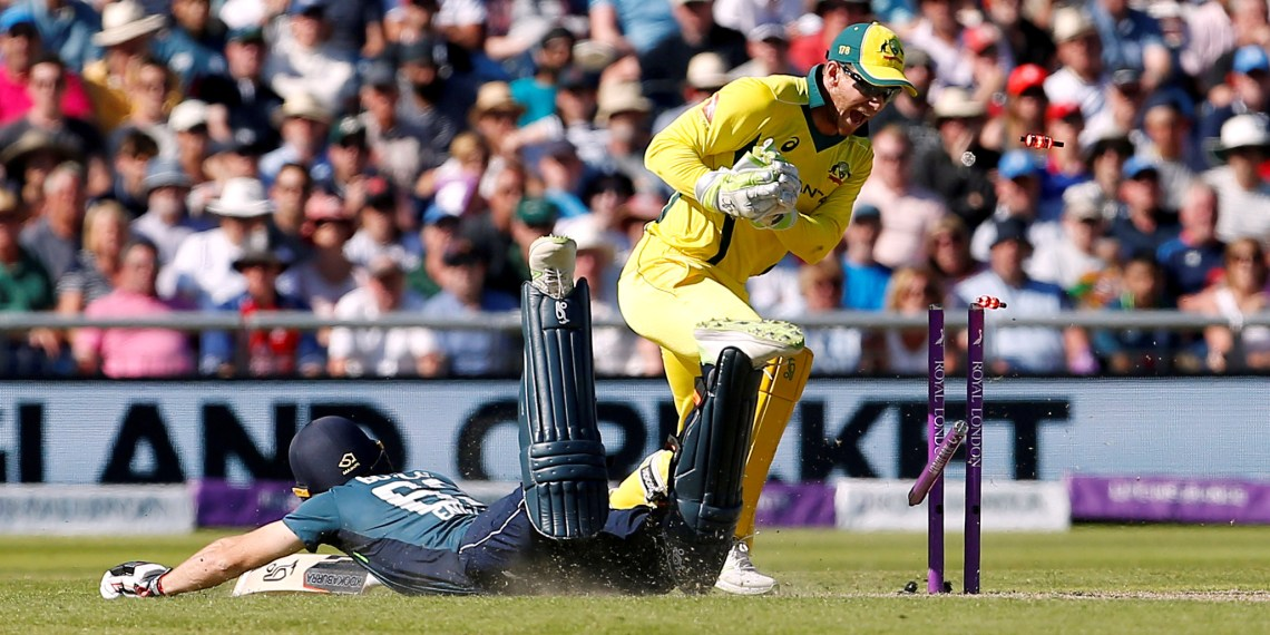 FILE PHOTO: Cricket - England v Australia - Fifth One Day International - Emirates Old Trafford, Manchester, Britain - June 24, 2018   Australia's Tim Paine is unsuccessful with his appeal against England's Jos Buttler   Action Images via Reuters/Craig Brough