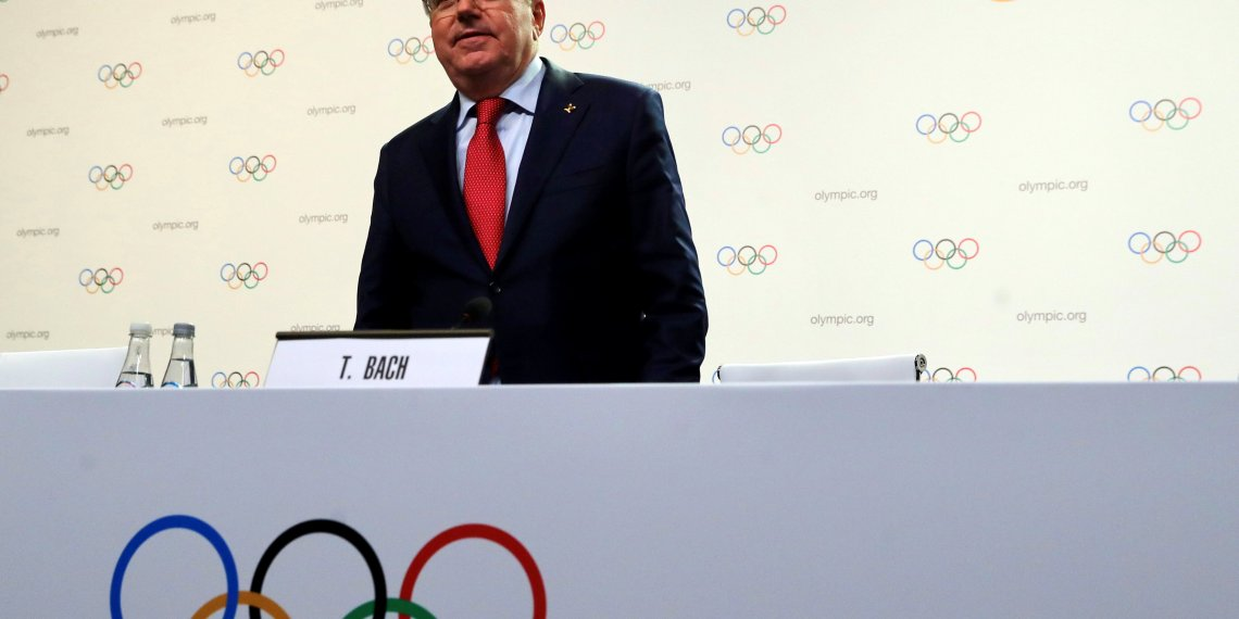 Thomas Bach, President of the International Olympic Committee (IOC), arrives for a news conference during the meeting of the IOC Executive Board in Buenos Aires, Argentina October 4, 2018. REUTERS/Marcos Brindicci/File Photo