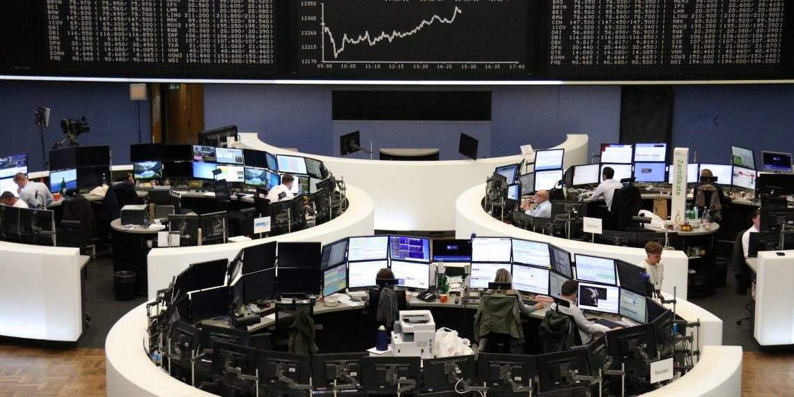 FILE PHOTO: The German share price index DAX graph is pictured at the stock exchange in Frankfurt, Germany, October 4, 2018. REUTERS/Staff