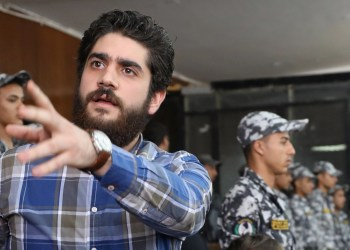FILE PHOTO: Abdullah Mursi, son of ousted president Mohamed Mursi, speaks during a verdict session in a case against 739 people involved in a 2013 sit-in, in Cairo, Egypt June 30, 2018. REUTERS/Mohamed Abd El Ghany