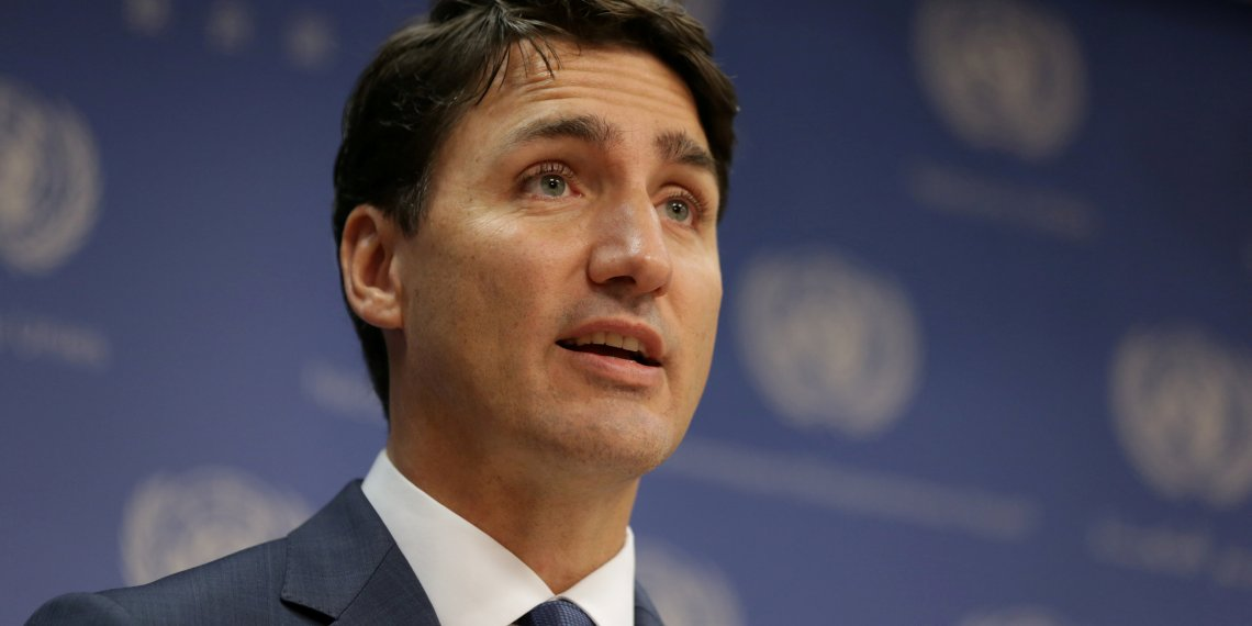 FILE PHOTO: Canadian Prime Minister, Justin Trudeau, speaks during a news conference at U.N. headquarters during the General Assembly of the United Nations in Manhattan, New York, U.S., September 26, 2018. REUTERS/Amr Alfiky