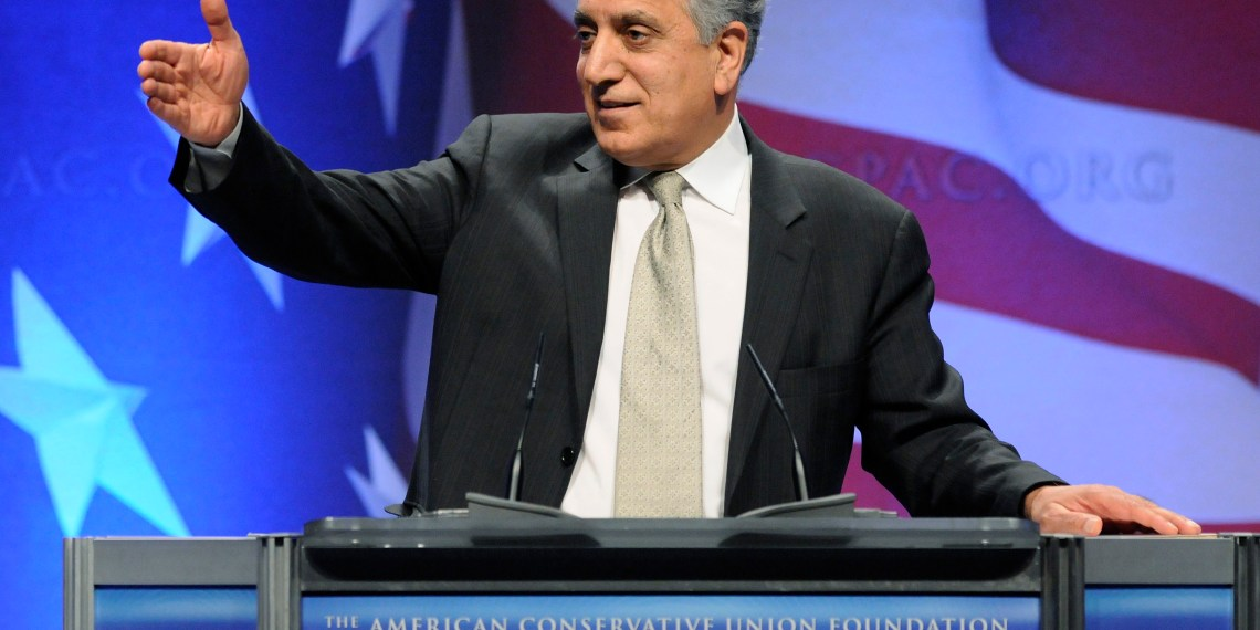 FILE PHOTO: Zalmay Khalilzad, former U.S. ambassador to Afghanistan, Iraq and the United Nations, leads a panel discussion on Afghanistan at the Conservative Political Action conference (CPAC) in Washington, February 12, 2011.  REUTERS/Jonathan Ernst