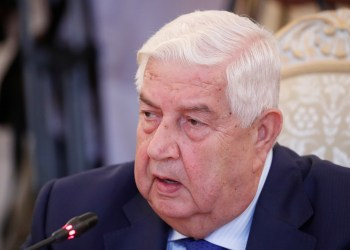 FILE PHOTO: Syrian Foreign Minister Walid al-Moualem speaks during a meeting with Russian Foreign Minister Sergei Lavrov in Moscow, Russia August 30, 2018. REUTERS/Maxim Shemetov