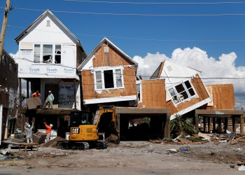 FILE PHOTO: Damage caused by Hurricane Michael is seen in Mexico Beach, Florida, U.S., October 16, 2018. REUTERS/Terray Sylvester/File Photo