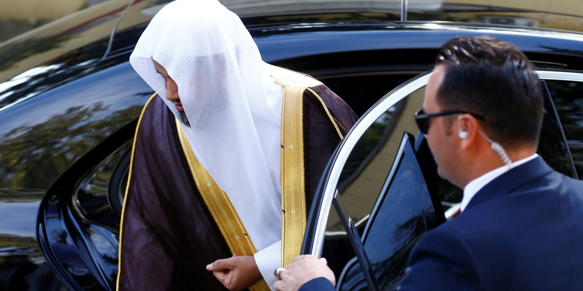 Saudi public prosecutor Saud Al Mojeb arrives at Saudi Arabia's consulate in Istanbul, Turkey October 30, 2018. REUTERS/Osman Orsal