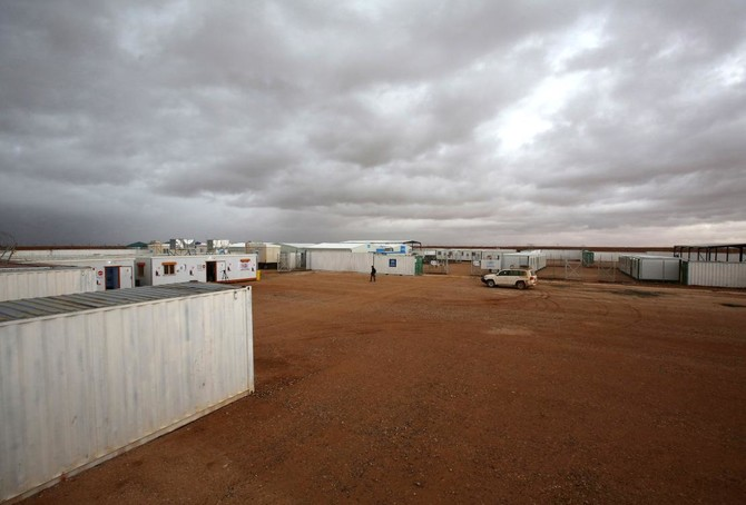 A general view of a UN-operated medical clinic immediately on the Jordanian-side of the border with Syria, near the informal Rukban refugee camp in no-man's-land in the remote northeast. (AFP)