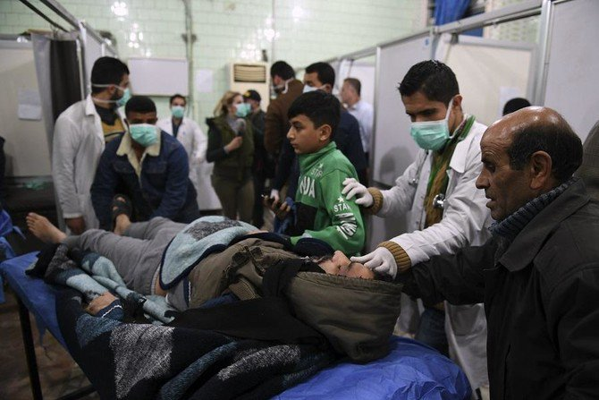 Hundreds of civilians were affected in the alleged poison gas attack in Aleppo. (AFP)