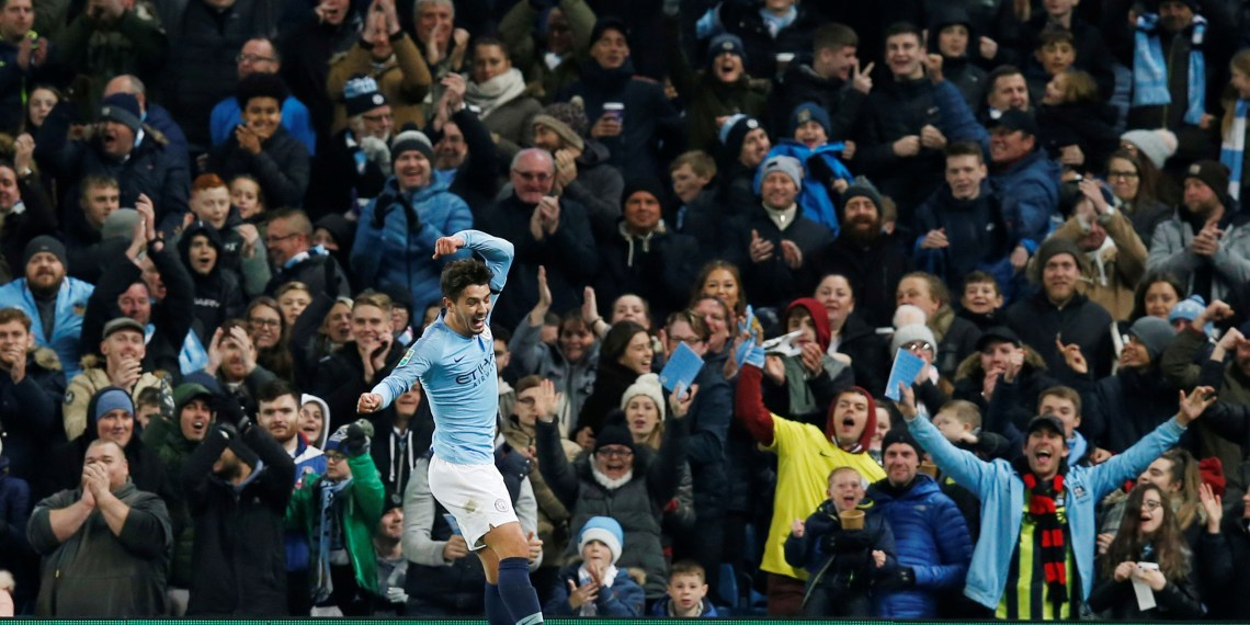 Soccer Football - Carabao Cup Fourth Round - Manchester City v Fulham - Etihad Stadium, Manchester, Britain - November 1, 2018 Manchester City's Brahim Diaz celebrates scoring their second goal REUTERS/Andrew Yates